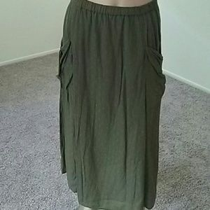 New  skirt/ sheer w/side slits